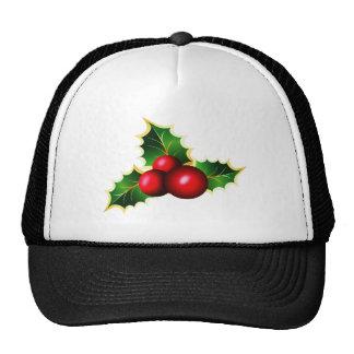 Bayas del acebo gorras de camionero
