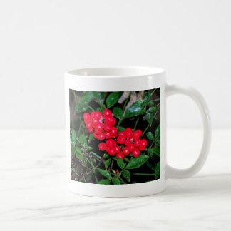 Bayas del navidad taza de café