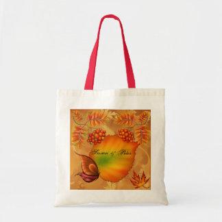 Bayas del otoño bolsa tela barata