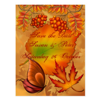 Bayas del otoño postal