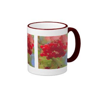 Bayas del otoño taza de café
