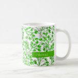 Bayas lindas del otoño del verde esmeralda taza de café