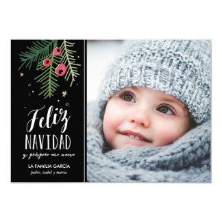 Bayas Rojas | Feliz Navidad Card