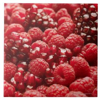 Bayas rojas sanas y nutritivas teja  ceramica