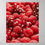 Bayas rojas sanas y nutritivas impresiones