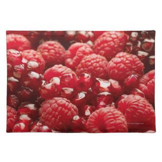Bayas rojas sanas y nutritivas mantel individual