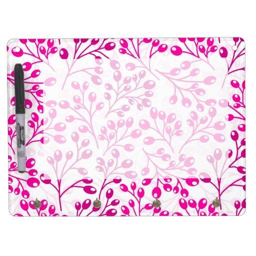 Bayas rosadas lindas del otoño tableros blancos