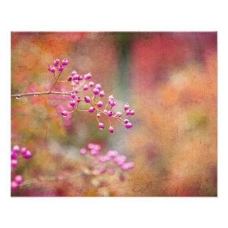 Bayas teñidas lazo en naranja y oro rosados foto