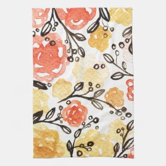 Bayas y floral toallas