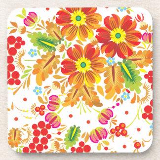 Bayas y flores Hohloma Posavasos
