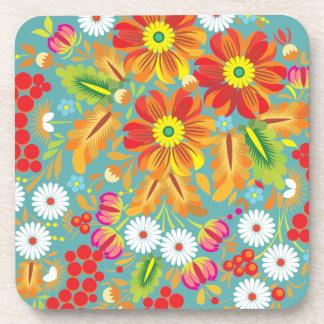 Bayas y flores Hohloma Posavasos De Bebidas