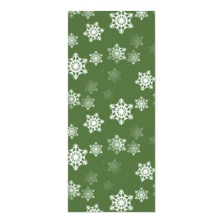 Bayberry Green and White Snow Flake Flurries Card