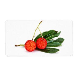 bayberry rojo etiqueta de envío