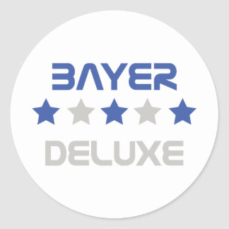 bayer deluxe icon classic round sticker