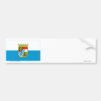 Bayern / Bavaria Flag with Arms Bumper Sticker