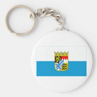 Bayern / Bavaria Flag with Arms Keychain