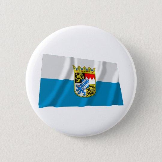 Bayern / Bavaria Flag with Arms Pinback Button