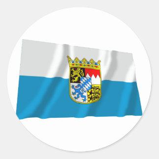 Bayern / Bavaria Flag with Arms Sticker