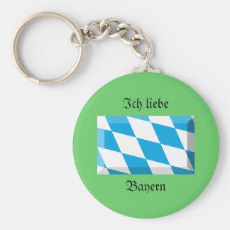 Bayern Flag Gem Keychain