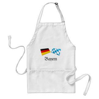Bayern, Germany Flag Tiles Adult Apron