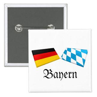 Bayern, Germany Flag Tiles Buttons