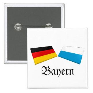 Bayern, Germany Flag Tiles Pins