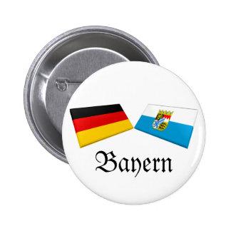 Bayern, Germany Flag Tiles Pinback Buttons