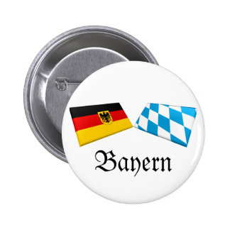 Bayern, Germany Flag Tiles Button