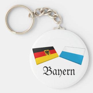 Bayern, Germany Flag Tiles Keychain