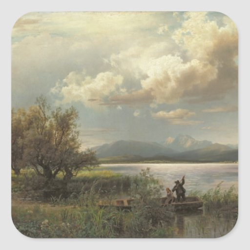 Bayern Landscape, 1856 Square Sticker