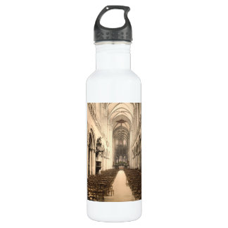 Bayeux Cathedral Interior, Bayeux, France Stainless Steel Water Bottle