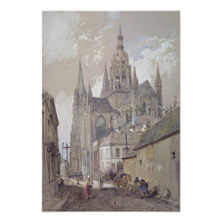 Bayeux Cathedral, View from the South East Poster