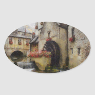 Bayeux in northern France. Oval Sticker