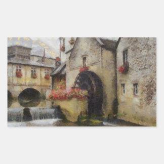 Bayeux in northern France. Rectangular Sticker