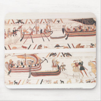 Bayeux Tapestry Detail - Ships Mousepad