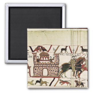 Bayeux Tapestry Earl Harold to Duke of Normandy 2 Inch Square Magnet