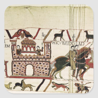 Bayeux Tapestry Earl Harold to Duke of Normandy Square Sticker