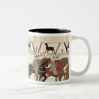 Bayeux Tapestry Earl Harold to Duke of Normandy Two-Tone Coffee Mug