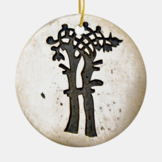 Bayeux Tapestry Tree Ceramic Ornament