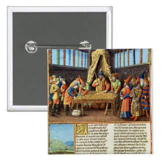 Bayezid I receiving the ransom 2 Inch Square Button