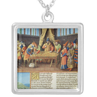 Bayezid I receiving the ransom Silver Plated Necklace