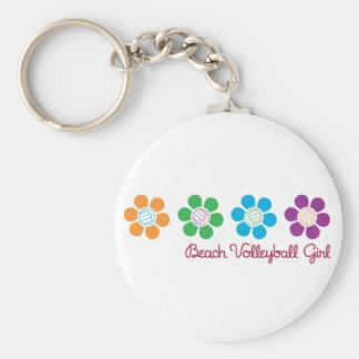 Bayflower Beach Volleyball Basic Round Button Keychain