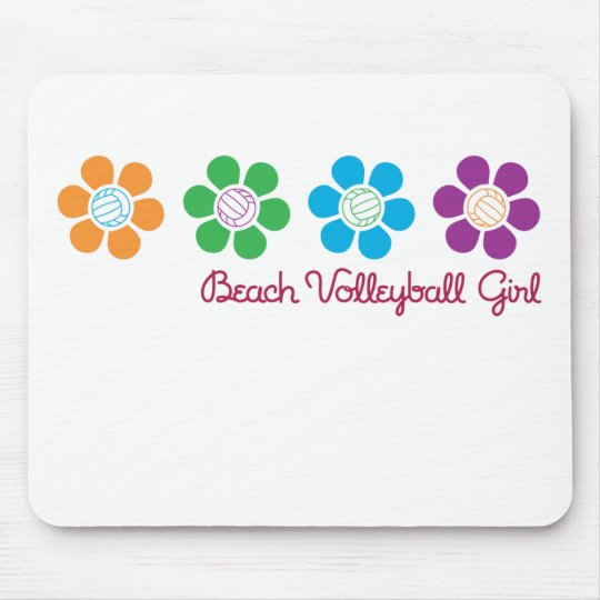 Bayflower Beach Volleyball Mouse Pad