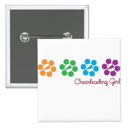 Bayflower Cheerleading Pinback Button
