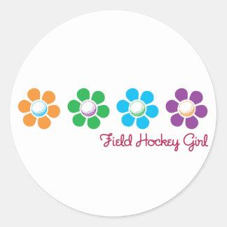 Bayflower Field Hockey Classic Round Sticker