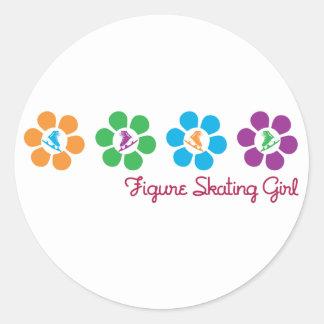 Bayflower Figure Skating Round Stickers