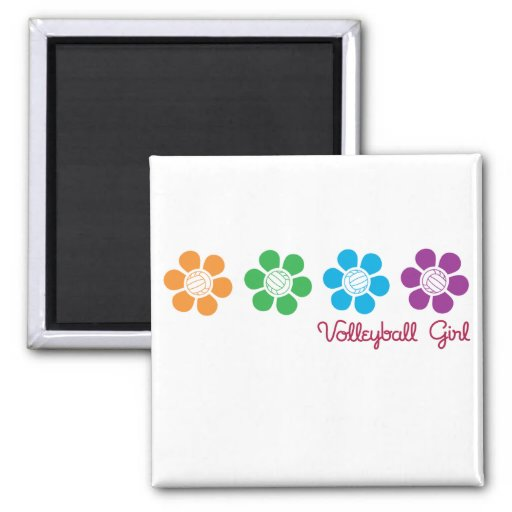Bayflower Volleyball 2 Inch Square Magnet
