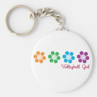 Bayflower Volleyball Basic Round Button Keychain