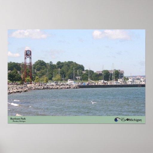 Bayfront Park in Petoskey, Michigan Print