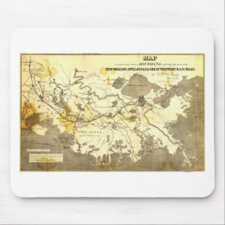 Bayley's Map of Louisiana railroads (1853) Mouse Pad
